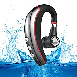 Bluetooth Headset, Aumo Wireless Business Bluetooth 4.1 Earpiece with Microphone Lightweight and Noise Reduction Earbuds/Earphones with Mic Crystal Clear Sound for Office/Truckers/Gym/Running