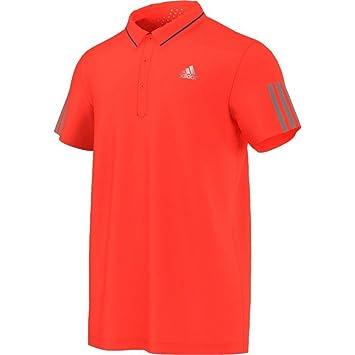 Adidas Upper Body Clothing Jo Wilfried Tsonga Barricade Polo Shirt, Orange,  XL AC0295