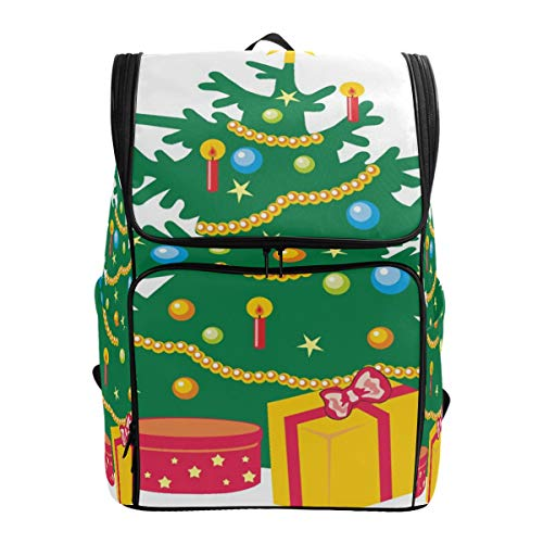Laptop Backpack Cartoon Christmas Trees Duffle Backpack for Women Large 3D Daypack