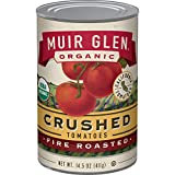 Muir Glen Canned Tomatoes, Organic Crushed Tomatoes, Fire Roasted, No Sugar Added, 14.5 Ounce Can (Pack of 12)