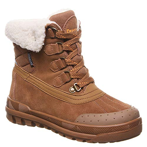 BEARPAW Womens Inka Closed Toe Ankle Cold Weather Boots, Hickory, Size 9.0