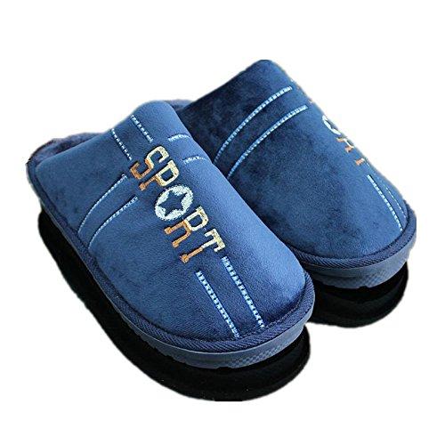 Inverno uomo caldo cotone pantofole codice di grandi dimensioni extra large home scarpe antiscivolo fondo spessa46 47 48 49码, 320(adatto per piedi48-49),caffè (confezione)