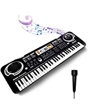 $58 » Keyboard Piano Kids 61 Key Electronic Digital Piano Musical Instrument Kit with Microphone Music Home Teaching Christmas Gift Toys for Boy Girls