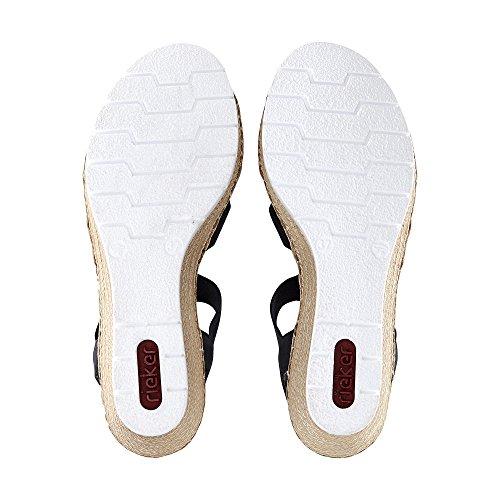 Rieker Damen V5545 Geschlossene Sandalen Pazifik