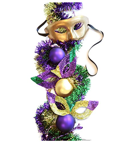 Mardi Gras Party Masks - Advanced Graphics Life Size Cardboard (Mardi Gras Products)