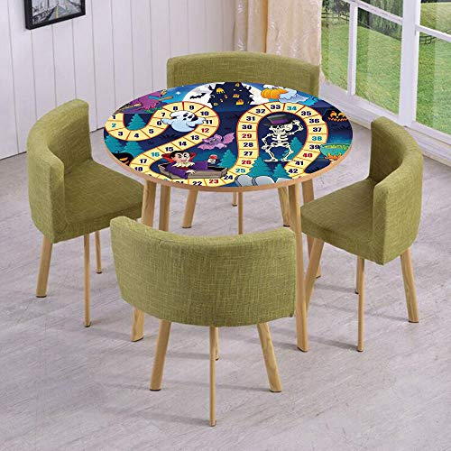 iPrint Round Table/Wall/Floor Decal Strikers,Removable,Halloween Theme Symbols Happy
