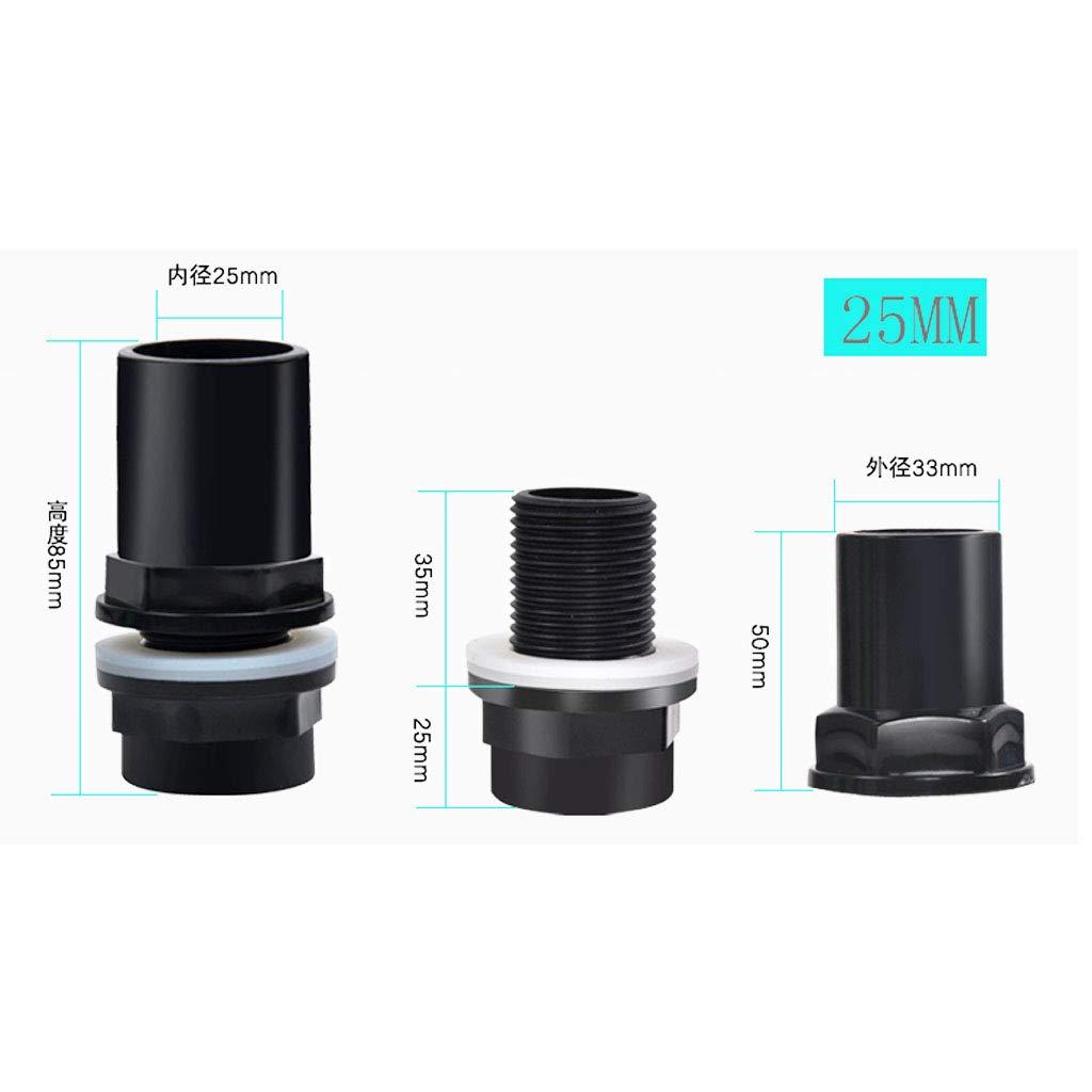 32 mm de di/ámetro Adaptador de Junta de Tuber/ía Material de Construcci/ón PVC Altamente C/ómodo