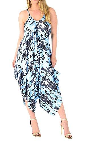 sin Estampado gris mangas talla color 21fashion Estampado en para camuflaje Jumpsuit de mujer azul cielo Cq15xwYE