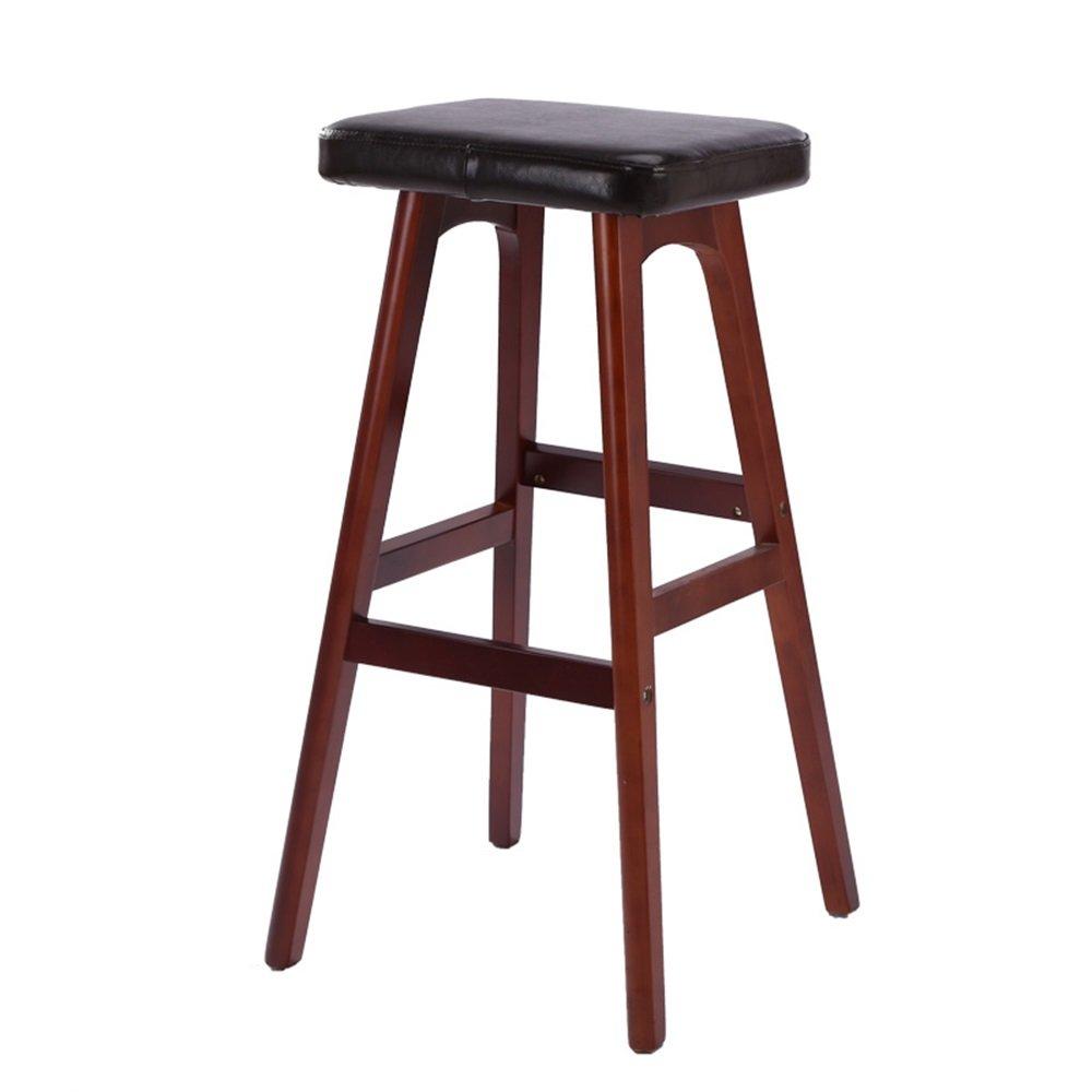 カウンターチェアソリッドウッドPUシートハイスツールバーキッチン朝食椅子コーヒーショップダイニングチェア (サイズ さいず : #9) B07DG4CJ77 #9 #9