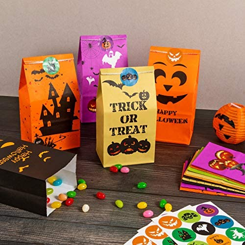 Halloween Egg Hunt Halloween Easter Egg Candy Corn 24 Piece Party Favors For Halloween Treat Candy Holders Containers Goodie Bag Fillers With Stickers by 4Es Novelty