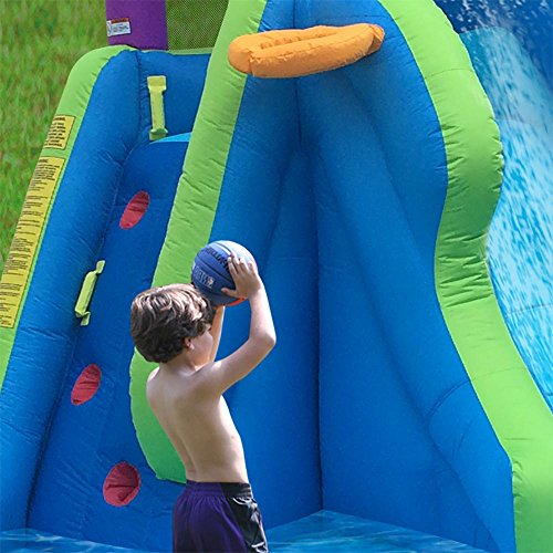 Inflatable Water Slide Usa: FROM USA Magic Time Twin Falls Outdoor Inflatable Splash