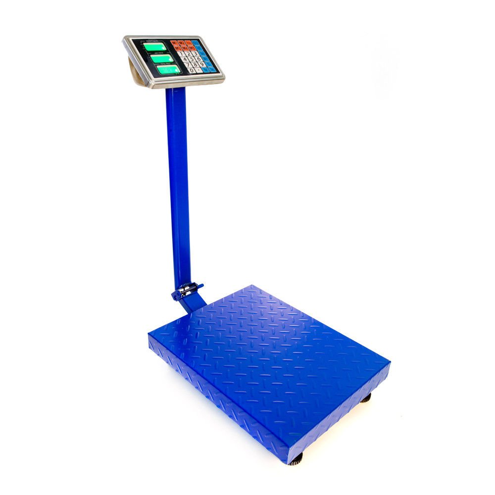 660lbs 300kg/100g Weight Weighing Price Computing Digital Floor Platform Scale with Rechargeable Battery for Market Post Shipping Food Agriculture Livestock