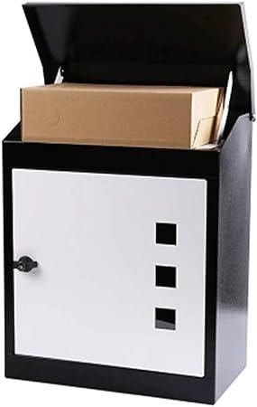 Buzón Puerta Exterior casa Impermeable antirrobo Que recibe el Archivo expreso Caja de Paquetes Caja de Cartas de recepción Grande Correos 43 * 24 * 52 cm Sistema Seguridad: Amazon.es: Hogar