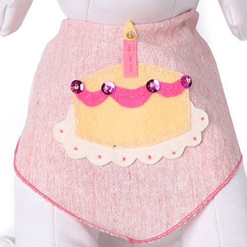 Tail Trends Happy Birthday Dog Bandana with Birthday Girl Cake Dog Bandana for Medium to Large Sized Dogs - 100% Cotton