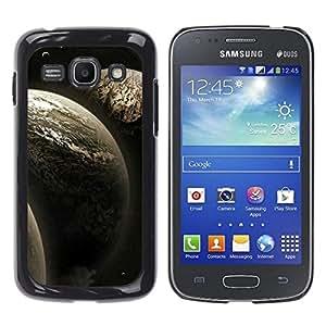 Caucho caso de Shell duro de la cubierta de accesorios de protección BY RAYDREAMMM - Samsung Galaxy Ace 3 - Tres Planetas