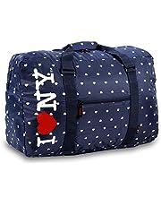 حقيبة من القماش الخشن بشعار J World New York I Love New York