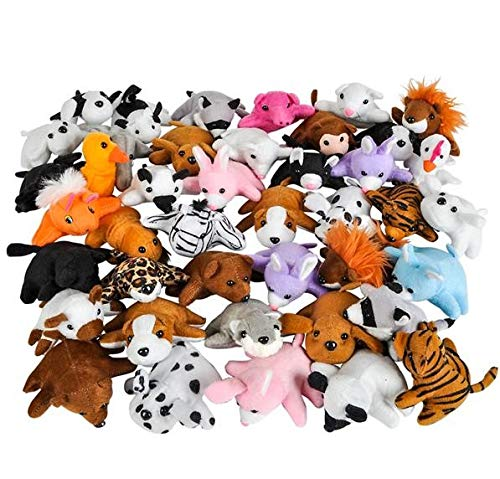 Rhode Island Novelty 3'' Bean Bag Plush Animals Assortment | 50 Pieces