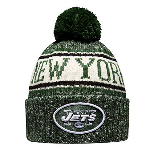 New Era NY Jets NFL 18 Sideline Sport Knit Hat Black/Green/White Size One Size