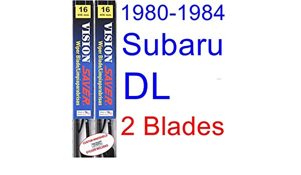 Amazon.com: 1980-1984 Subaru DL Replacement Wiper Blade Set/Kit (Set of 2 Blades) (Saver Automotive Products-Vision Saver) (1981,1982,1983): Automotive