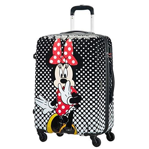 51dQlabMTnL. SS500 Disney Legends Spinner 65 Alfatwist: 45.5 x 27.5 x 65 cm - 62.5 L - 3,40 kg Cerradura fijo con combinación de 3 dígitos para añadir seguridad Divertida serigrafía de Disney con acabado brillante y forro de color a juego