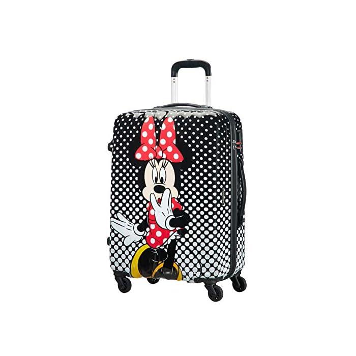 51dQlabMTnL Disney Legends Spinner 65 Alfatwist: 45.5 x 27.5 x 65 cm - 62.5 L - 3,40 kg Cerradura fijo con combinación de 3 dígitos para añadir seguridad Divertida serigrafía de Disney con acabado brillante y forro de color a juego