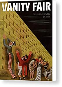 Vanity Fair Cover Featuring A Group Of Figures by Miguel Covarrubias, Vanity Fair, June 1st, 1933, Canvas Print