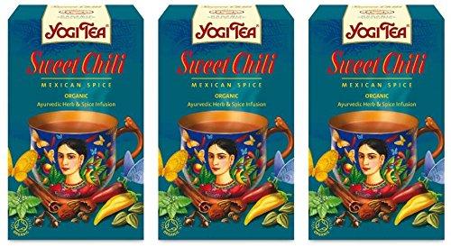 - (3 PACK) - Yogi Tea - Sweet Chili Mexican Spice | 17 Bag | 3 PACK BUNDLE