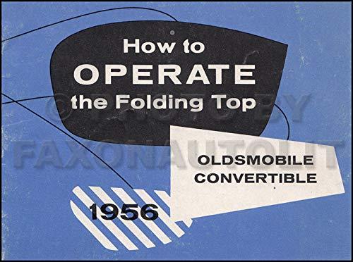 1956 Oldsmobile Convertible Top Owner's Manual Original