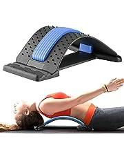 Gxhong Rugstretcher Rugstretcher Back Stretcher, rugtrainer voor onder en boven lendenwervelkolom, rugmassageondersteuning voor bureaustoel fitness backright stretcher