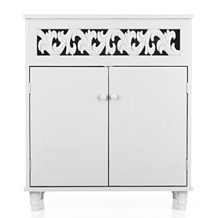 Pleasing Ikayaa Floor Cabinet With 2 Door Shelved Storage Cabinet Bedroom Bathroom Furniture Interior Design Ideas Gentotryabchikinfo