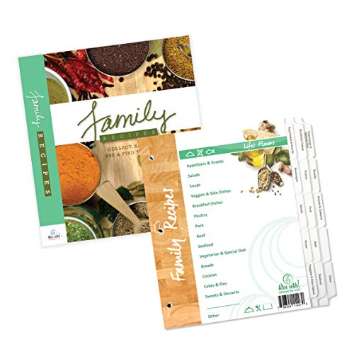 Ahh Hah! Family Recipe Organizer Kits: LONG Index Tabs for Three-ring Binder with Cover ()