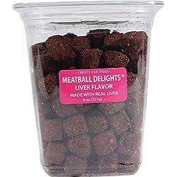 Triumph Pet Industries 486055 Meatball Delights Dog treats liver, 8 oz, 1Piece