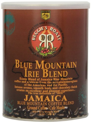 Reggie's Roast Jamaica Blue Mountain Irie Blend Ground Coffee, 12-Ounce Cans (Pack of 3)