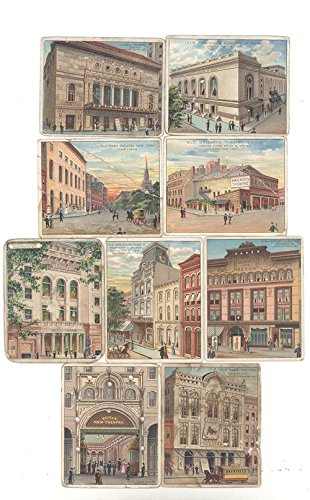 Theatres Old and New 9 Tobacco Cards Between the Acts 1910-1912 by Between th Acts Little Cigars