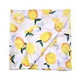 ANBOO Newborn Baby Swaddle Bamboo Fiber Blanket Sleeping Swaddle Muslin Wrap (Yellow)