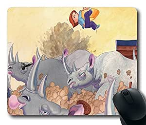 """Then Came The Rhinos Durable Rubber Customized Mousepad Rectangle Mouse Pad 220mm*180mm*3mm (9""""*7"""") -WS82146"""