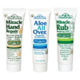 Hawaiian Moon Aloe Cream Best Deals - Miracle Assortment 3-Pack - Miracle Hand Repair, Miracle Aloe All Over and Miracle Rub