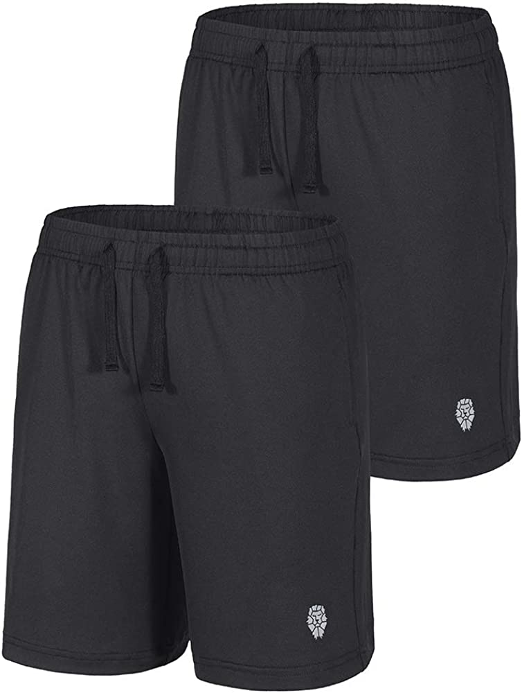 PIQIDIG Youth Boys' Loose Fit Athletic Shorts Quick Dry Active Shorts with Pocket: Clothing