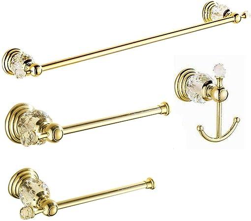 Aiboduo Lot de 4 accessoires de salle de bain en cristal ...