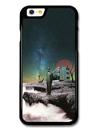 Hipster Deer Colonel on Lake in Trippy Collage Bauhaus Architecture Design case for iPhone 6 6S