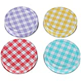 Lily's Home Decorative Canning Lids for Mason Ball Jars. Assorted 4 Colors