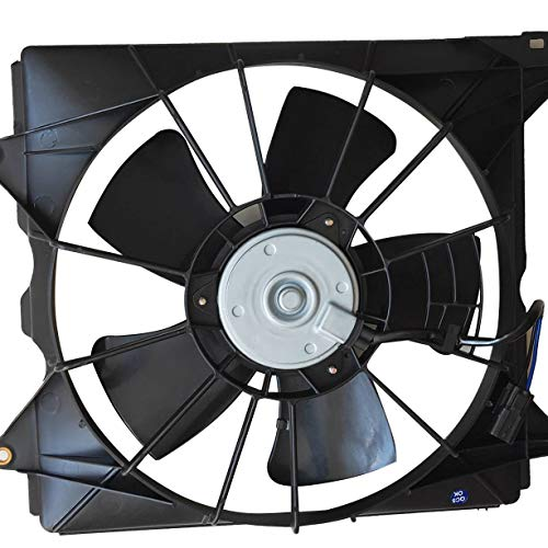 TOPAZ 19015-R40-A01 Front Left Radiator Cooling Fan Assembly for Honda Accord 2008-2012