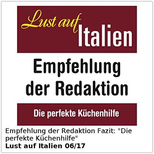 Presse f/ür Koch, Hobbykoch ausklappbare Loch-Siebe PEARL Knoblauch-Presser 2er-Set massive XL-Edelstahl-Knoblauchpressen