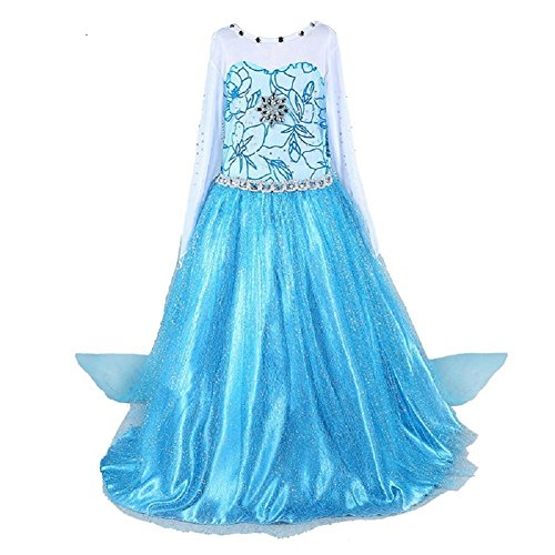 Anbelarui Girls New Princess Party Cosplay Costume Long Dress Up 3-9 Years (2-3 Years, 01 Dress)