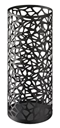Nest - Black Metal Round Umbrella Stand, Modern Home Decor