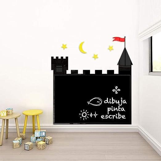 Castillo pizarra pizarra pared magnética hogar niños graffiti ...