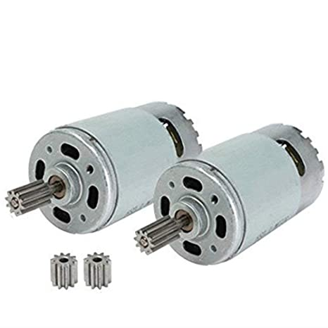 Amazon.com: 2 Pcs Universal 550 35000RPM High Speed Electric Motor RS550 12V Motor Drive Engine Accessory for RC Car Children Ride on Toys Replacement ...