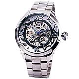 SHENHUA RUSSIAN OVERSIZE Men's Sport Formal Vogue Auto Mechanical Wrist Watch Stainless-steel Strap