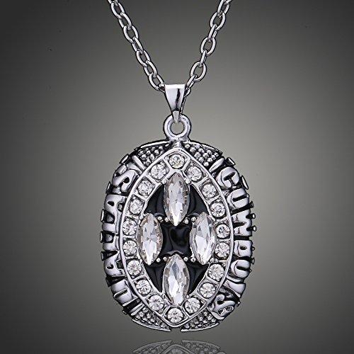 ZHXuan 1994 Dallas Cowboys Super Bowl Champion Necklaces Pendants National Football Championship Necklaces