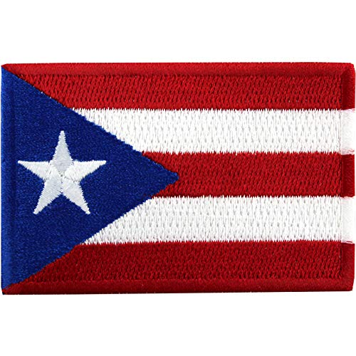 - Puerto Rico Embroidered Country National Flag Iron On Emblem Patch Team Jersey